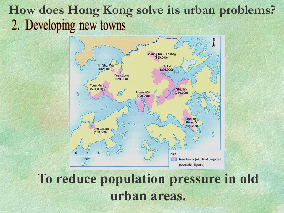 To reduce population pressure in old urban areas.