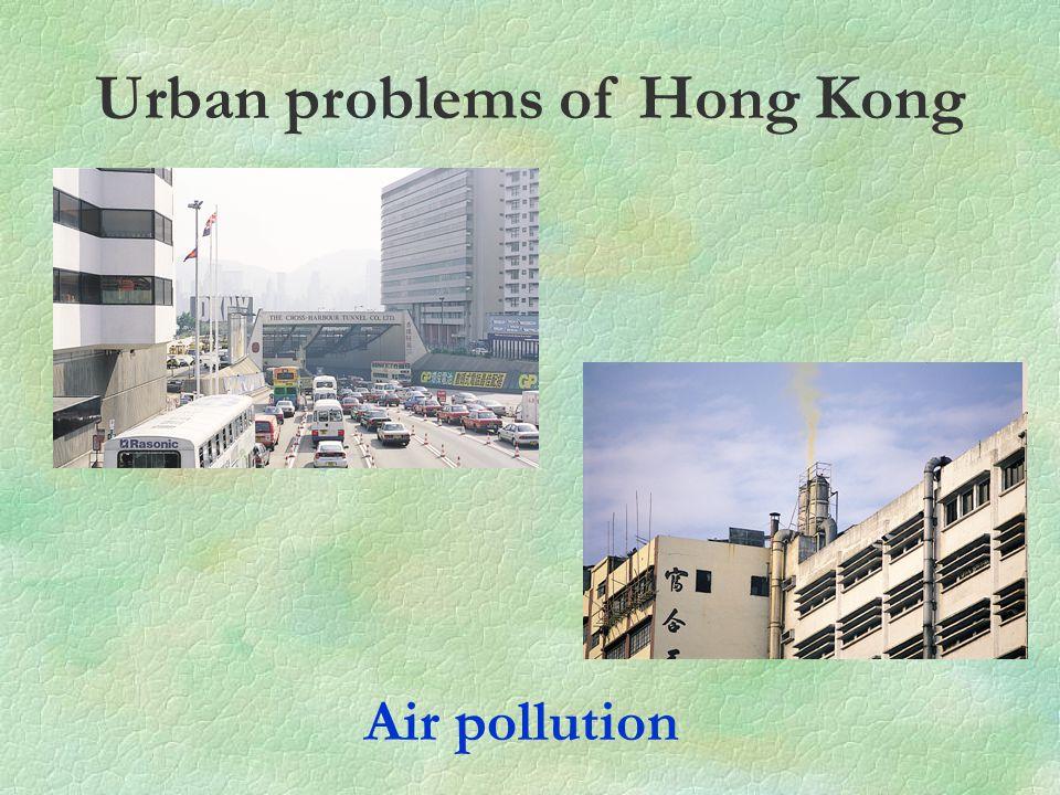 Urban problems of Hong Kong Air pollution