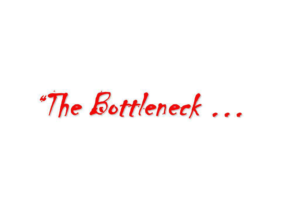 The Bottleneck …