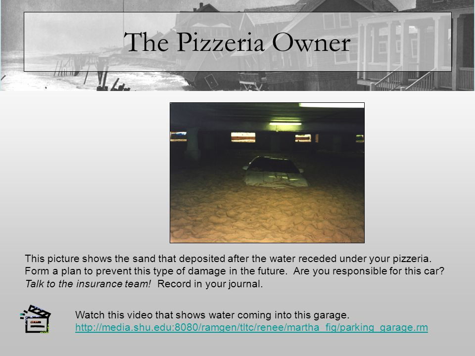 The Pizzeria Owner Rising Sea Levels Your town is in the NJ Highlands area.