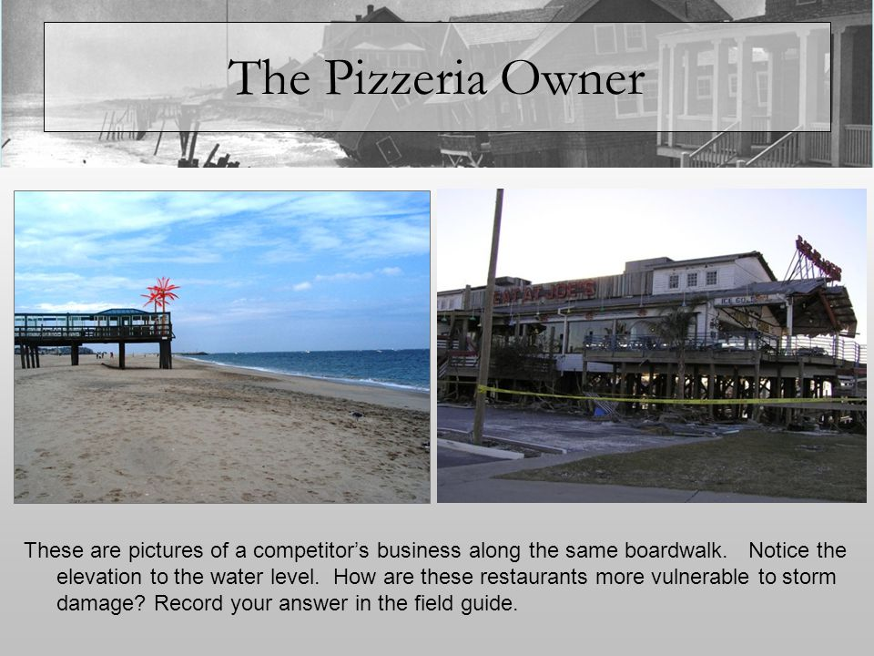 The Pizzeria Owner Should you consider relocation.