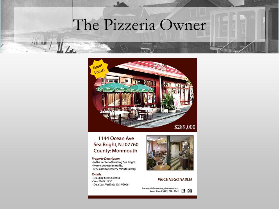 The Pizzeria Owner