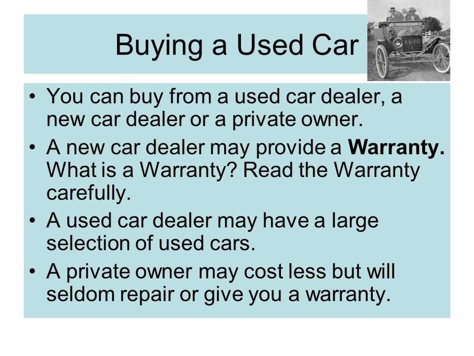 Buying a used car video