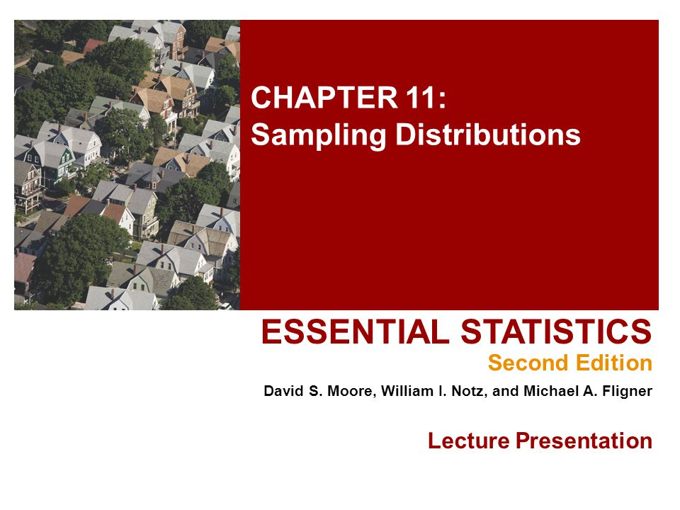 Chapter 11 Concepts Parameters and Statistics Statistical Estimation and the Law of Large Numbers Sampling Distributions The Sampling Distribution of The Central Limit Theorem 2