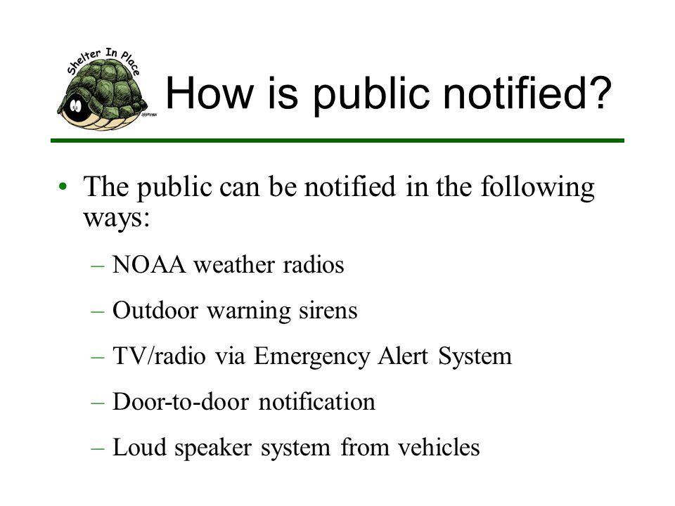 How is public notified.