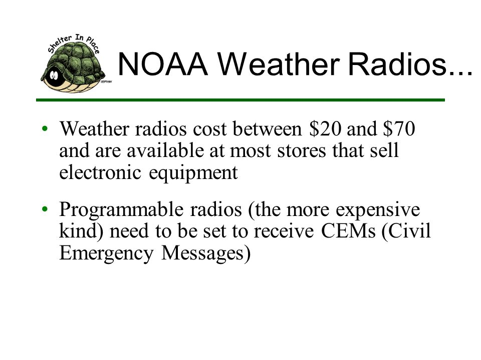 NOAA Weather Radios...