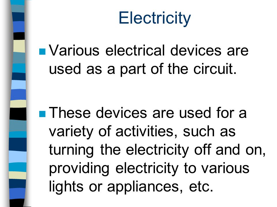Voltage n When electricity must be carried a long distance through wires, there will be a decrease in voltage, referred to as voltage drop.