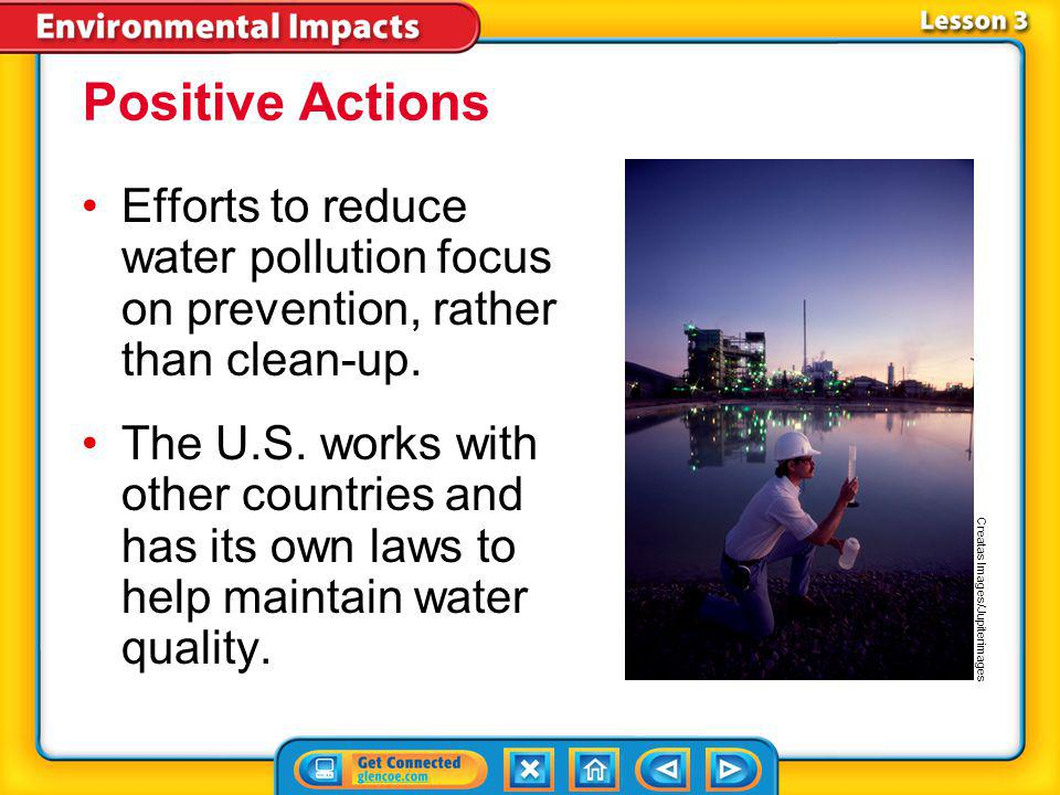 Lesson 3-2 Sources of Water Pollution (cont.) How can pollution affect water quality?