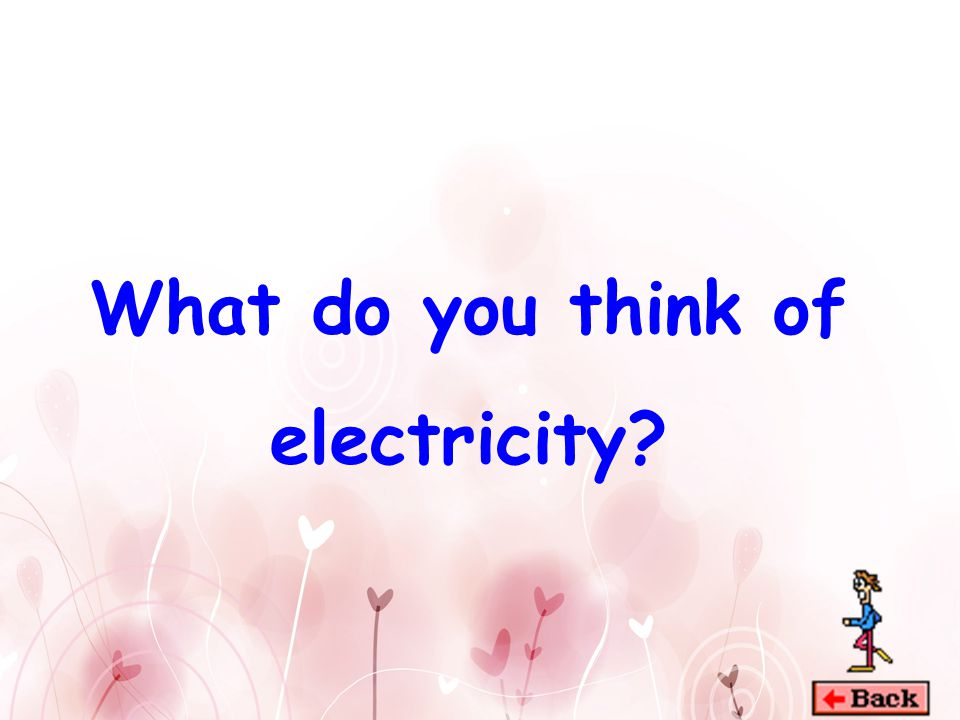 When can we see electricity