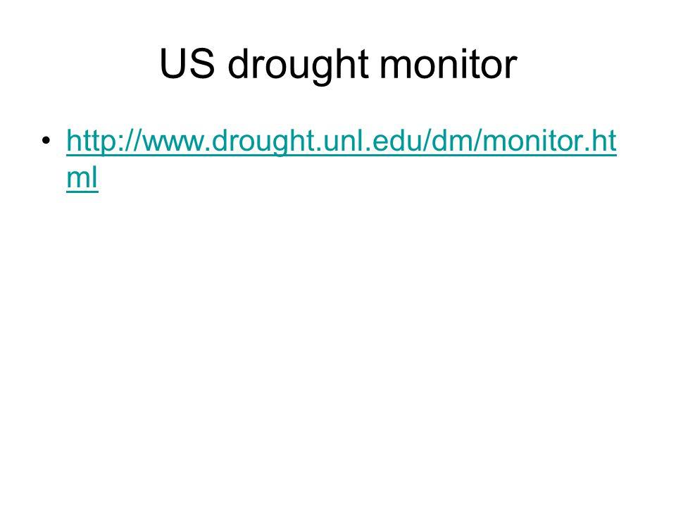 US drought monitor http://www.drought.unl.edu/dm/monitor.ht mlhttp://www.drought.unl.edu/dm/monitor.ht ml