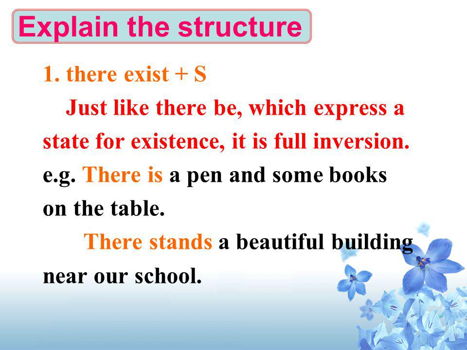 Explain the structure 1.