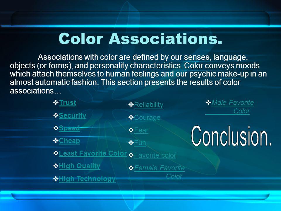 Color Associations.