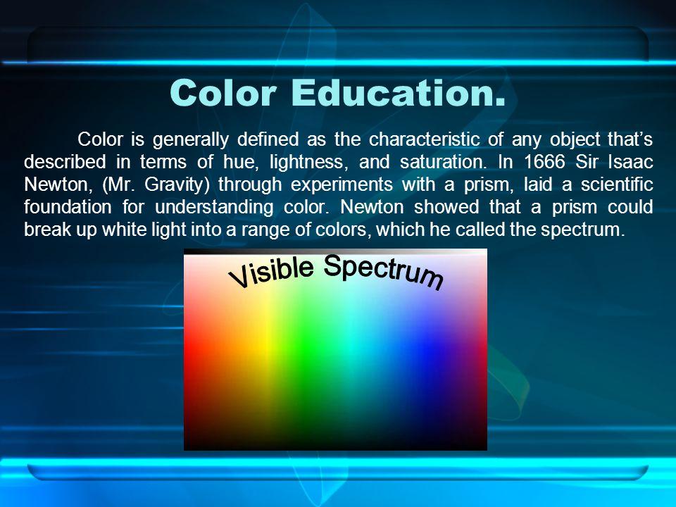 Color Education.