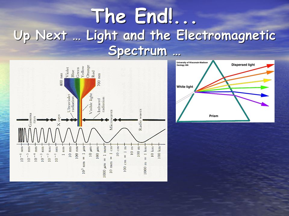The End!... Up Next … Light and the Electromagnetic Spectrum …