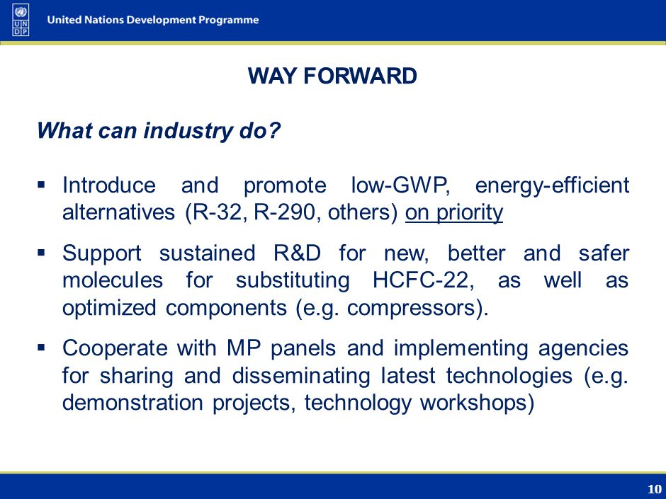 10 WAY FORWARD What can industry do.