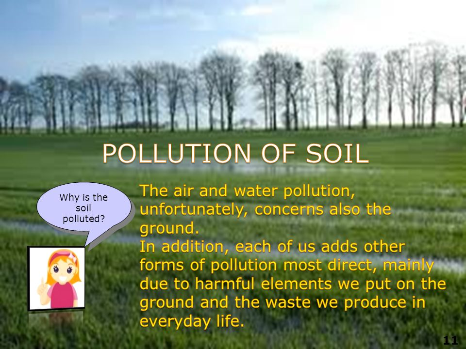 Why is the soil polluted 11