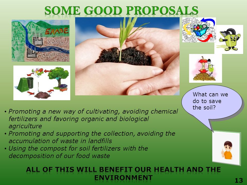 What can we do to save the soil.