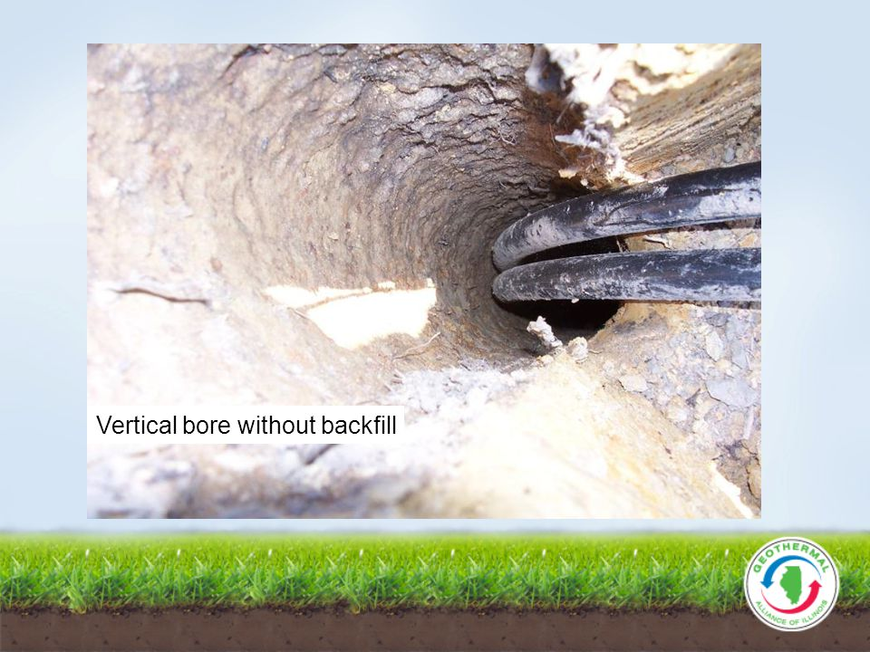 Vertical bore without backfill