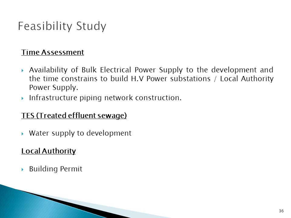 Time Assessment Availability of Bulk Electrical Power Supply to the development and the time constrains to build H.V Power substations / Local Authori