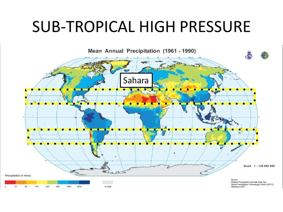 SUB-TROPICAL HIGH PRESSURE Sahara