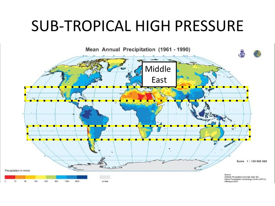SUB-TROPICAL HIGH PRESSURE Middle East