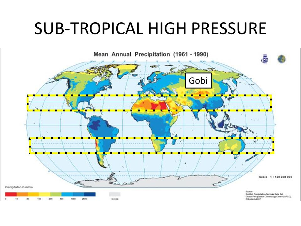 SUB-TROPICAL HIGH PRESSURE Gobi