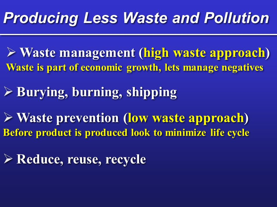 Dealing with Material Use and Wastes Fig. 24-3 p. 535