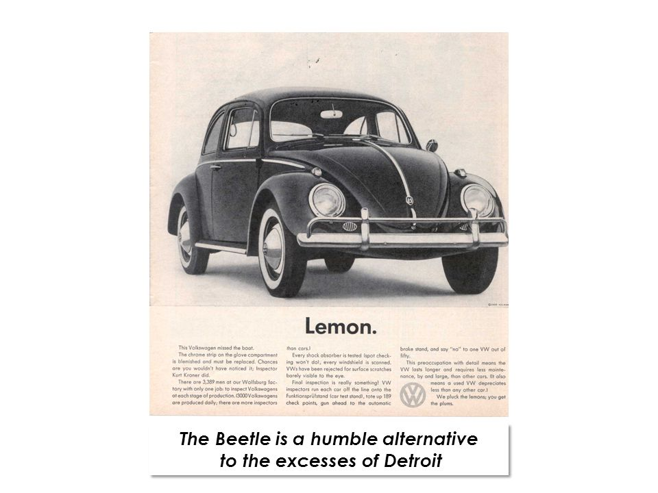 The Beetle is a humble alternative to the excesses of Detroit The Beetle is a humble alternative to the excesses of Detroit