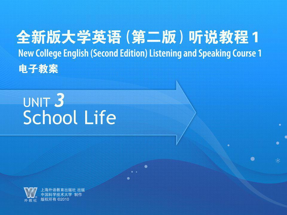 UNIT 3 School Life