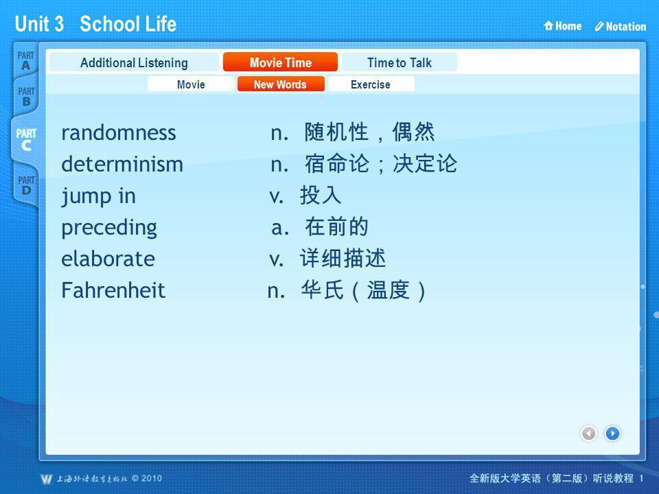 Unit 3 School Life PartC_2_a randomness n.determinism n.