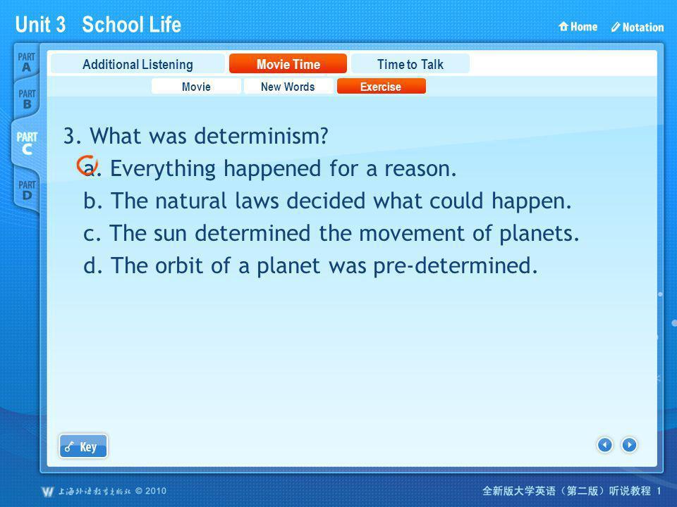 Unit 3 School Life PartC_2_b_3 3.What was determinism.