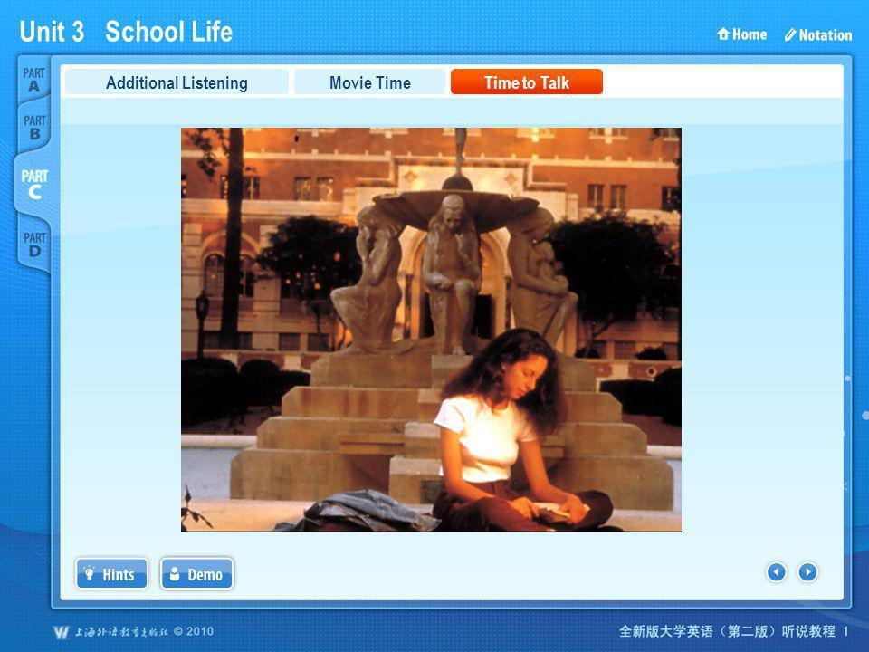 Unit 3 School Life PartC_3b Movie TimeTime to TalkAdditional Listening