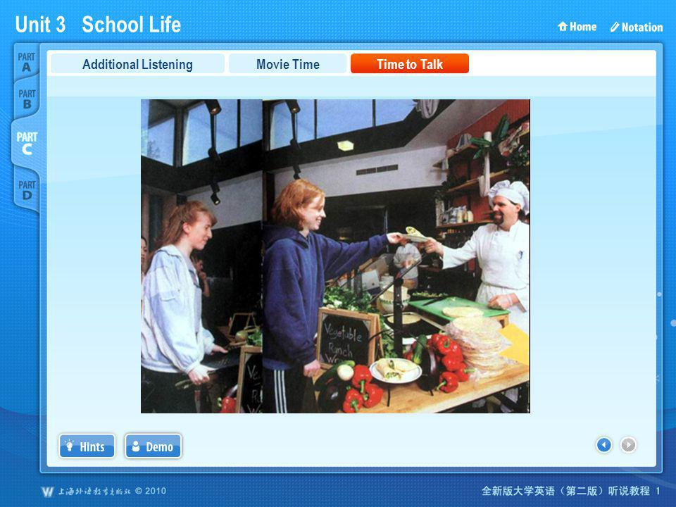 Unit 3 School Life PartC_3c Movie TimeTime to TalkAdditional Listening