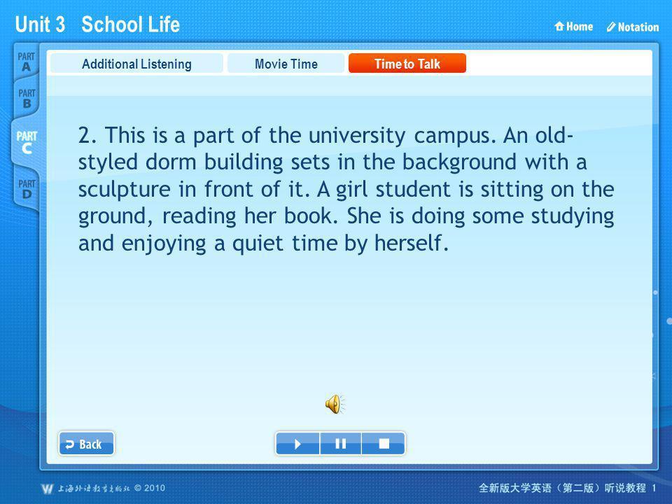 Unit 3 School Life PartC_3b_2 Movie TimeTime to TalkAdditional Listening 2.