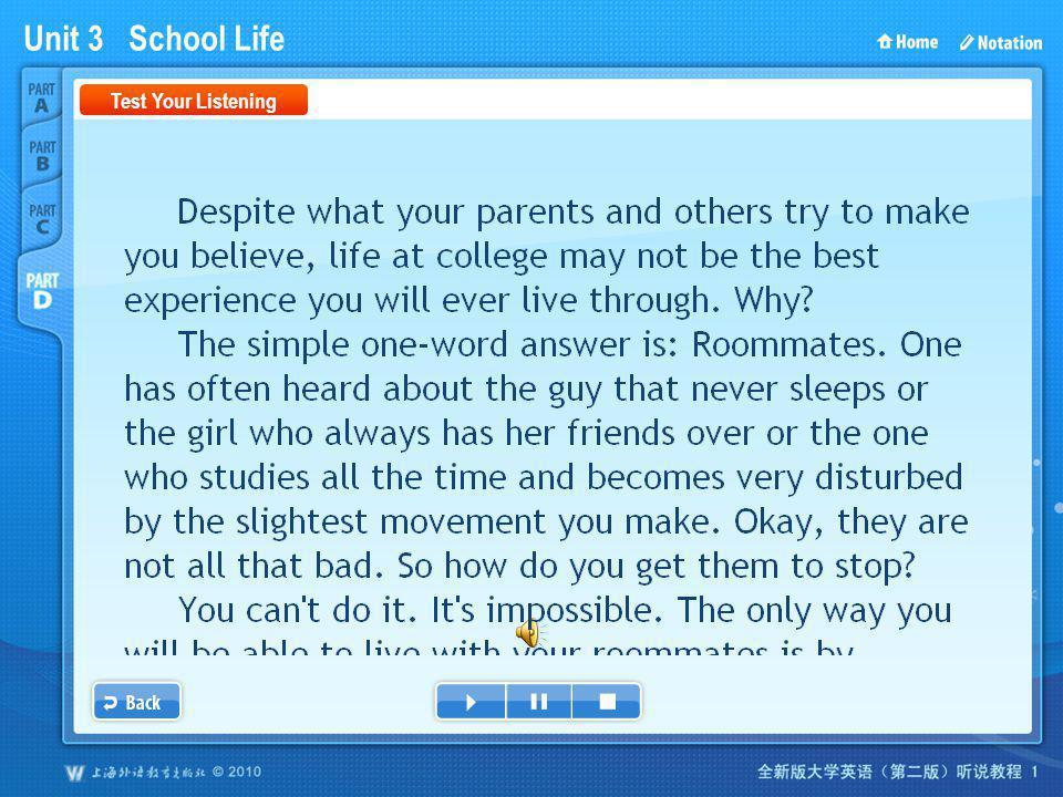 Unit 3 School Life PartD_1_Script Test Your Listening