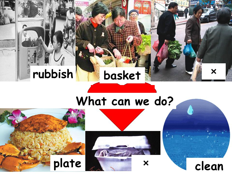 rubbish plate × × basket clean What can we do?