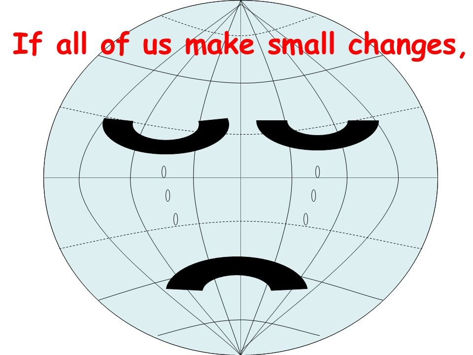If all of us make small changes,