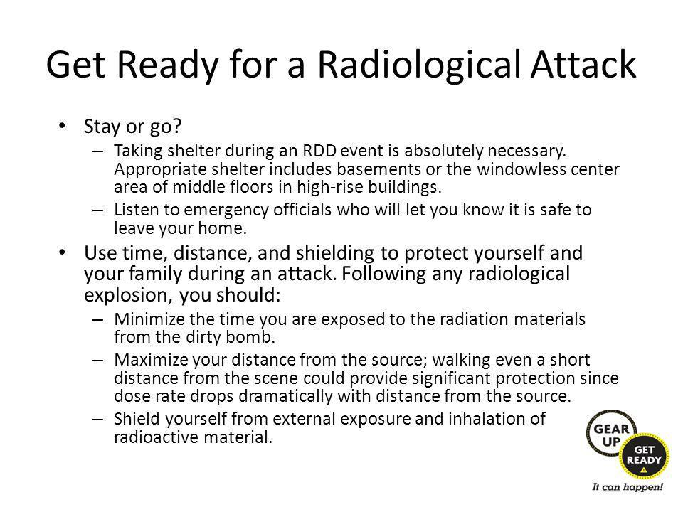 Get Ready for a Radiological Attack Stay or go.