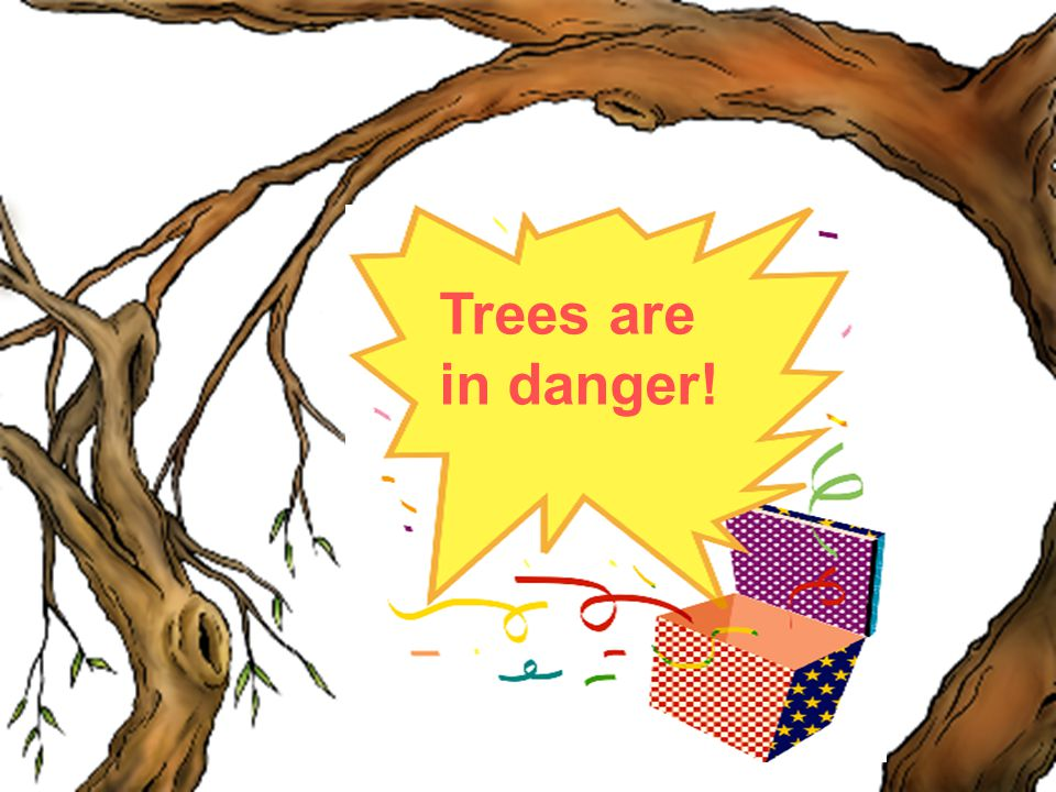 Trees are in danger!