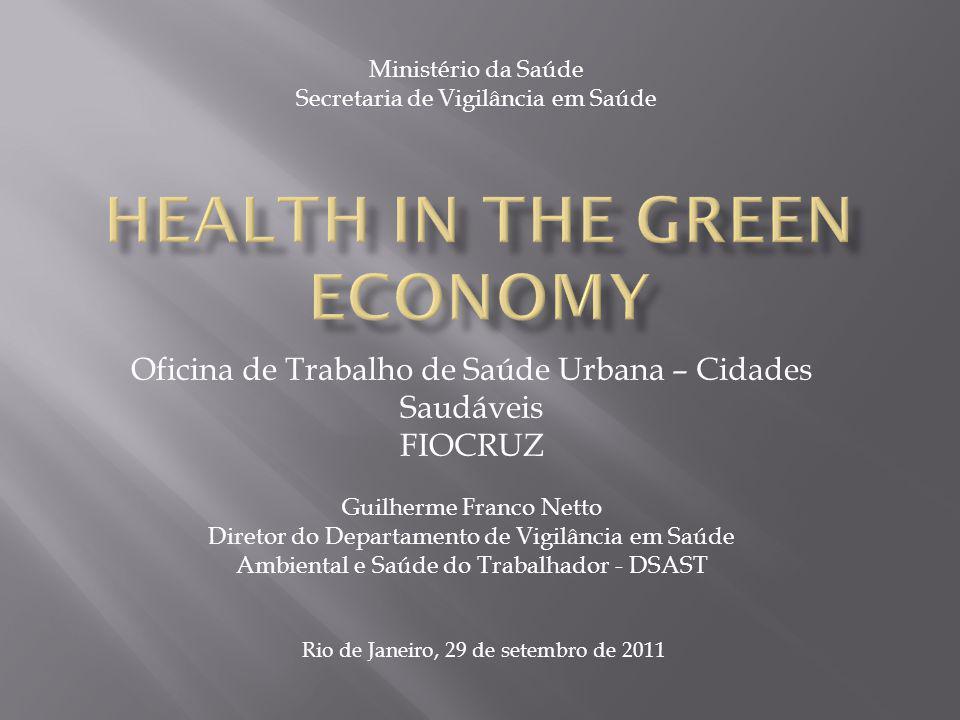 Ministério da Saúde Secretaria de Vigilância em Saúde Oficina de Trabalho de Saúde Urbana – Cidades Saudáveis FIOCRUZ Guilherme Franco Netto Diretor d