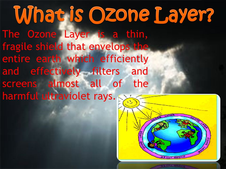 The Ozone Layer is a thin, fragile shield that envelops the entire earth which efficiently and effectively filters and screens almost all of the harmf