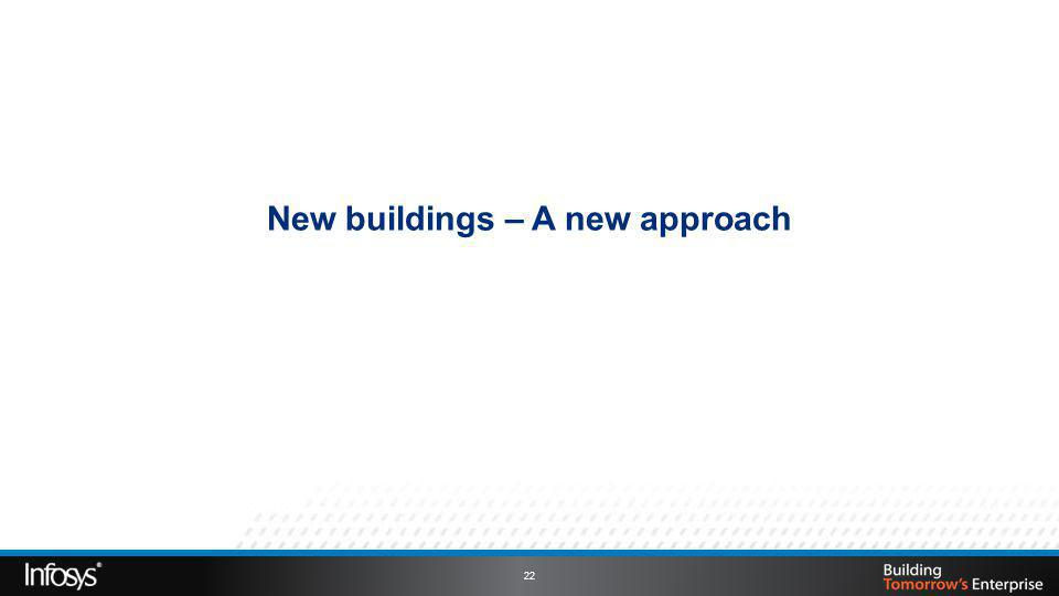New buildings – A new approach 22