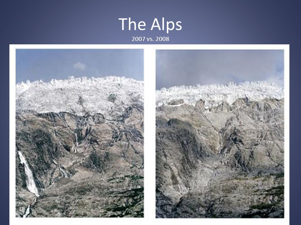 The Alps 2007 vs. 2008