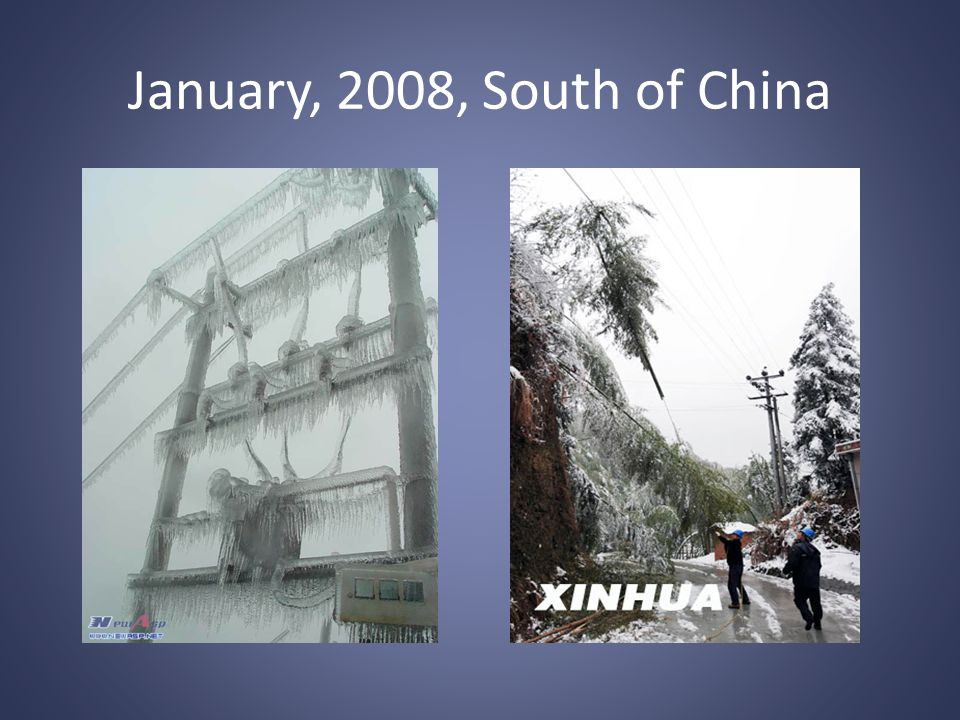 January, 2008, South of China