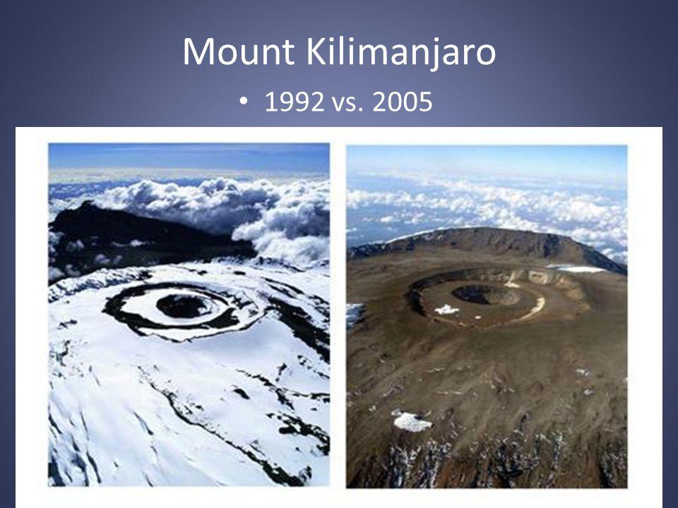 Mount Kilimanjaro 1992 vs. 2005