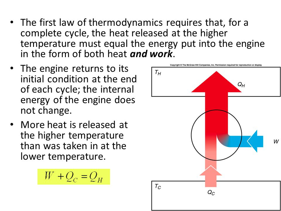 Refrigerators, Heat Pumps, and Entropy If a heat engine is run in reverse, then work W is done on the engine as heat Q C is removed from the lower-tem