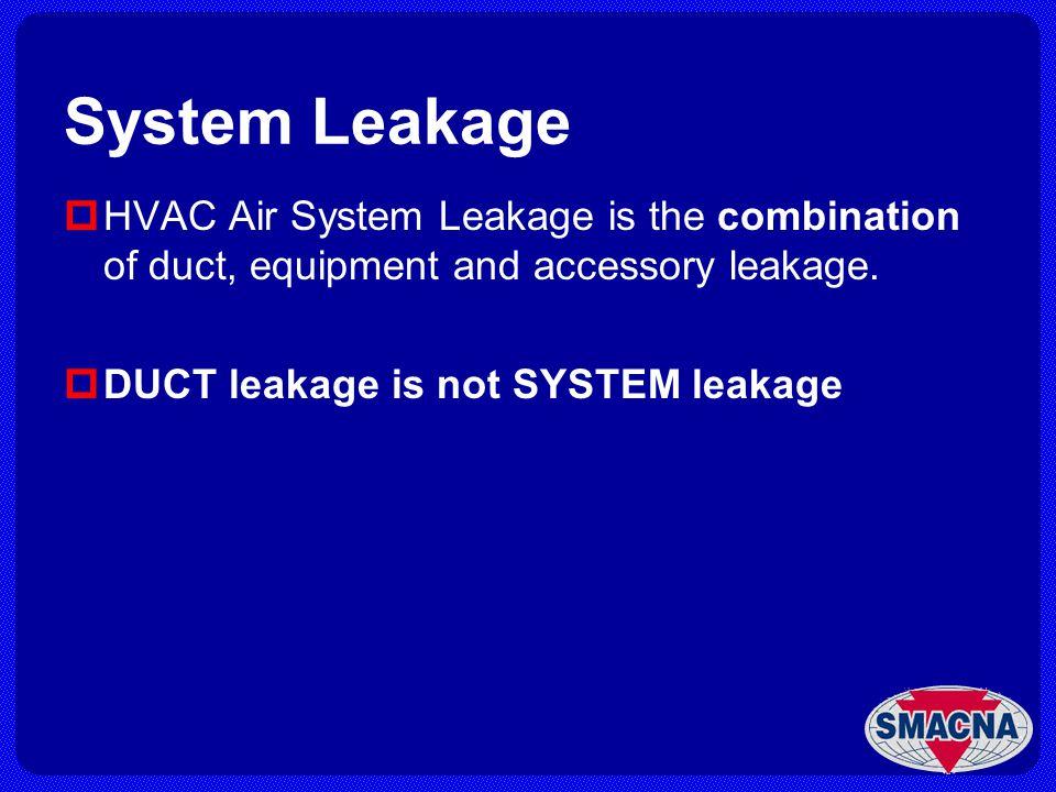 Equipment Leakage Test ASHRAE Standard 193 authorized September 30, 2006.