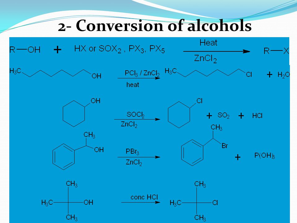 2- Conversion of alcohols