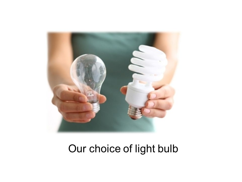 Our choice of light bulb