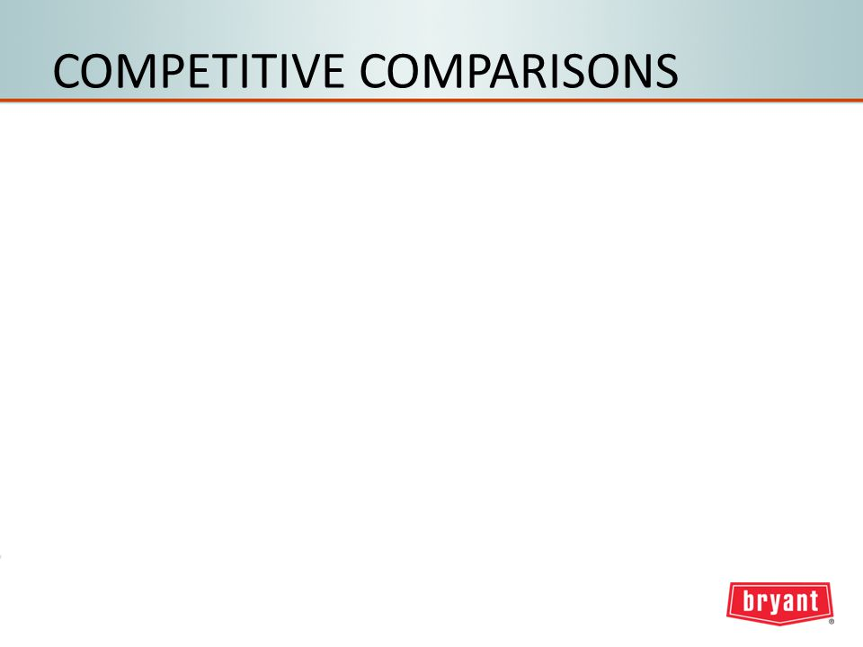 COMPETITIVE COMPARISONS